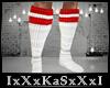 White & Red Socks