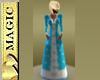 Blue Velvet Snow Gown
