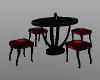 round table black red