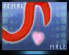 M * Heart Tail M/F Drv