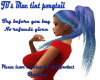 JB's Blue tint ponytail