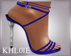 K blue  silver tiff heel