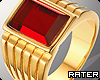 ✘ Red Stone Ring. R