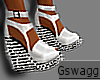 {GS} White Diamond Heels