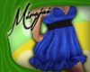 M * Blue Linen Dress