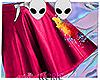 NOR: splatter pink skirt