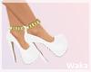 White Chain Heels
