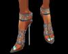 chrome&blue gem heels