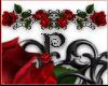 ~P~Red Rose Border Tile