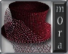 Miranda Burgundy Top Hat