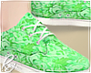 Green Floral Shoes