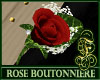 Boutonniere Rose Red