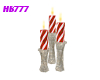 HB777 CandyCane Candles