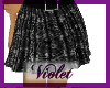 (V) black lace skirt