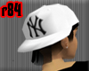 [r84] BwWht Yankee Cap 1