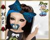~H~Girl Blue Pacifier An
