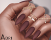 ~A: Brown Nails