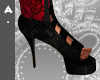 ^Ash Red Lace Heels