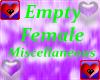 Empty * Female Miscellan