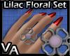 VA Lilac Floral Set R