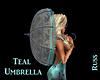 Teal Umbrella