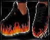 Lit flames