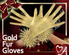 Gold Furry Gloves