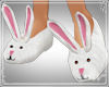 !Bunny slippers white pk