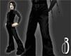 d3 Black Leather Pants