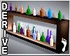 ~Colored Bottles Shelf