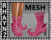 Curled Toe Boots Mesh