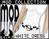 -cp Mod White Dress