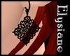 {E} Noir Lace Earrings