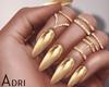 ~A: Gold Mirror Nails