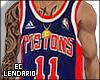 EC' Pistons #11 Thomas