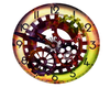 Abstract Wall Clock -JR-