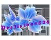 Blue translucent flowers