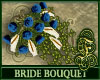 Bride Bouquet Navy Blue