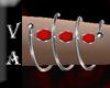 VA Silver Red Bracelet R