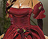Rose Red Satin Ball Gown