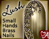 Lush Filigree Nails Brass