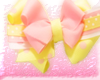 yellow/pinky bow
