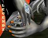 Witchy Long Orange Nails