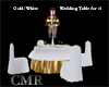 Gold/White Wedding Table