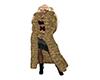 Leopard Fuul Fur Coat