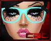 Teal Nerd Glasses