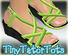 Kids Lime Wedge Sandals