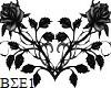 Black Rose Sticker small