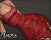 $ Red Shine Dress - M