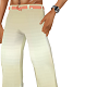 peach/white tux pants